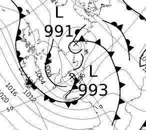 KNMI: Vanaf halverwege de middag komen er in het zuidwestelijk kustgebied zware windstoten van 80-100 km/uur voor, aan zee mogelijk 100-110 km/uur. De windstoten komen uit een noordwestelijke richting. Morgen neemt de wind weer af.